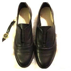 Bcbgeneration black leather loafers